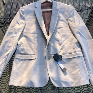 Gazzarrini Sports Jacket Silver Cotton Velvet 46